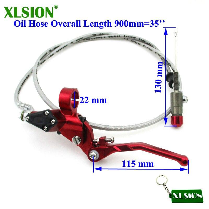 XLSION 900 мм гидравлический рычаг сцепления Главный цилиндр для мотоцикла Pitster Pro SDG Braaap Taotao Coolster Roketa