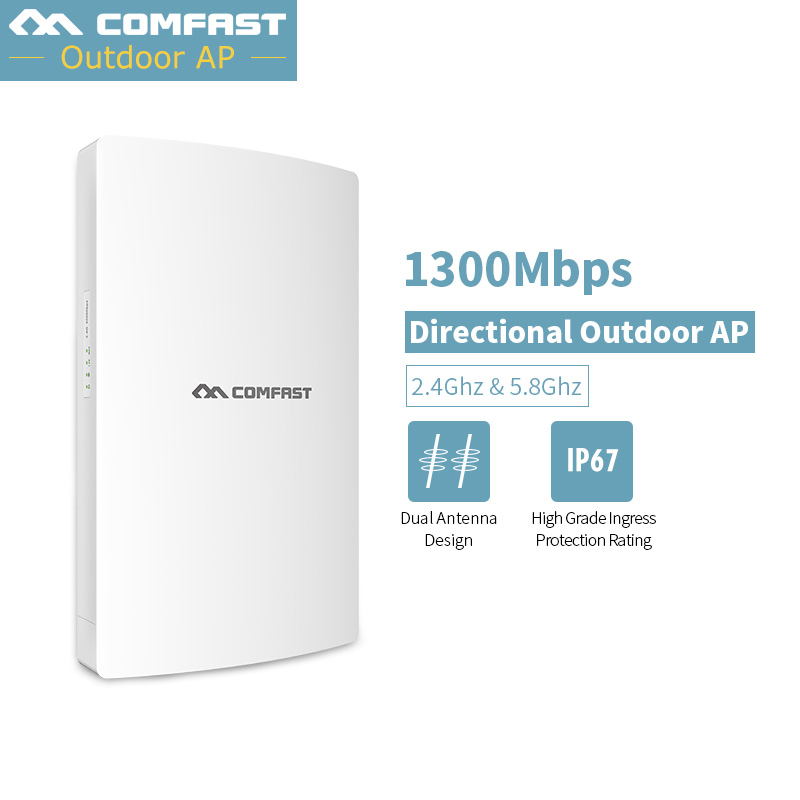 1300M Outdoor Wifi Repeater Gigabit Wireless Wi-fi Range Extender 5G+2.4G Amplifier 802.11ac Waterproof Wifi Router/AP CF-WA350