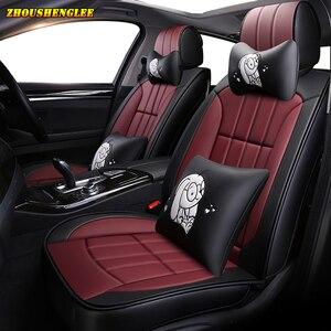 Image 1 - Neue luxus Leder auto sitz abdeckung für mitsubishi pajero 4 sport outlander 3 xl lancer 9 10 grandis ASX colt l200 auto zubehör