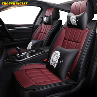 New luxury Leather car seat cover for mitsubishi pajero 4 sport outlander 3 xl lancer 9 10 grandis ASX colt l200 car accessories