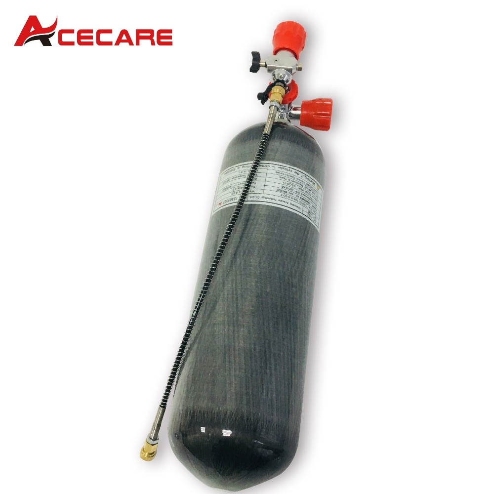 AC168101 Acecare 4500 psi 6.8LCE  Carbon Fiber Tank For Paintball Game And Paintball Tank Or Air Rifle Refill-K Drop Shipping