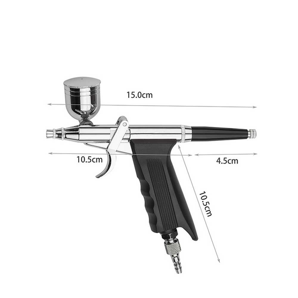 デュアルアクション 0.2/0.3/0.5 ミリメートル針エアブラシ塗装車エアブラシスプレーペン Aerograph キットヘナタトゥー用