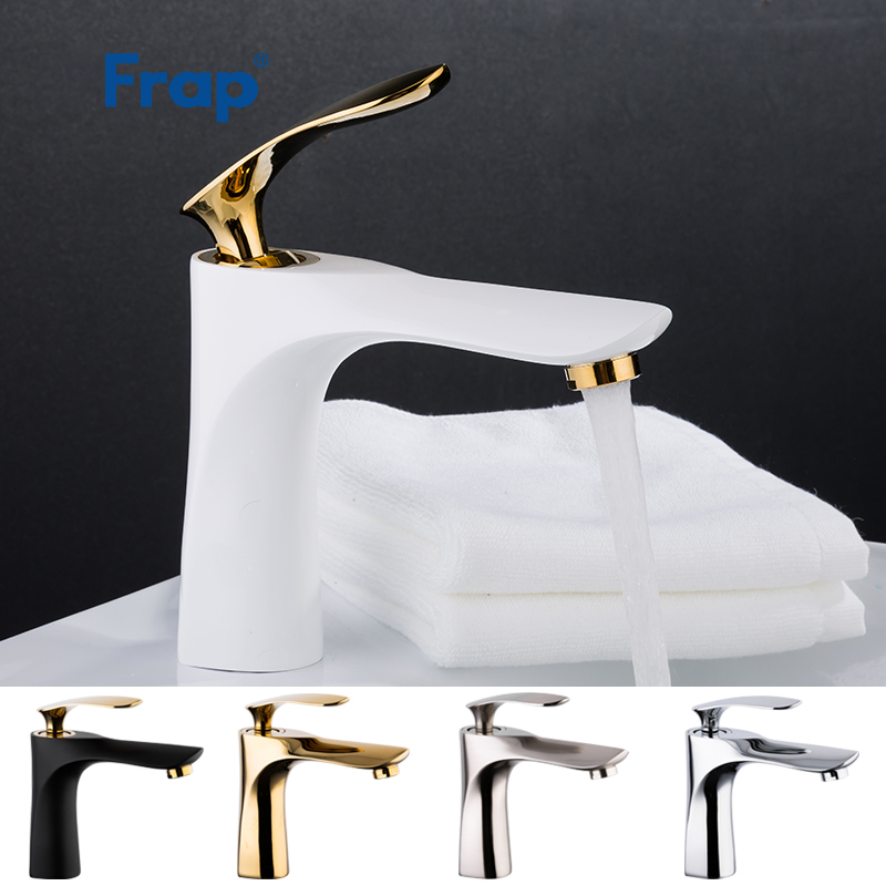 FRAP new chrome bathroom Basin Sink Taps Single Handle Brushed Basin Faucet Hot and Cold Mixer
