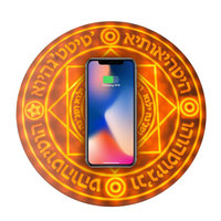Universal QI Wireless Charger Pad 5W/10W Glowing Magic Array Fast Charger For iPhone X/XS 8 Plus For Samsung S8 S9 for NOKIA