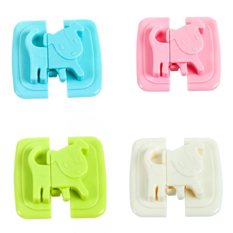 1set Cartoon Puppy Shape Baby Kids Safety Security Locks Plastic ABS Cute Locks For Cabinet Fridge Door Cupboard Window