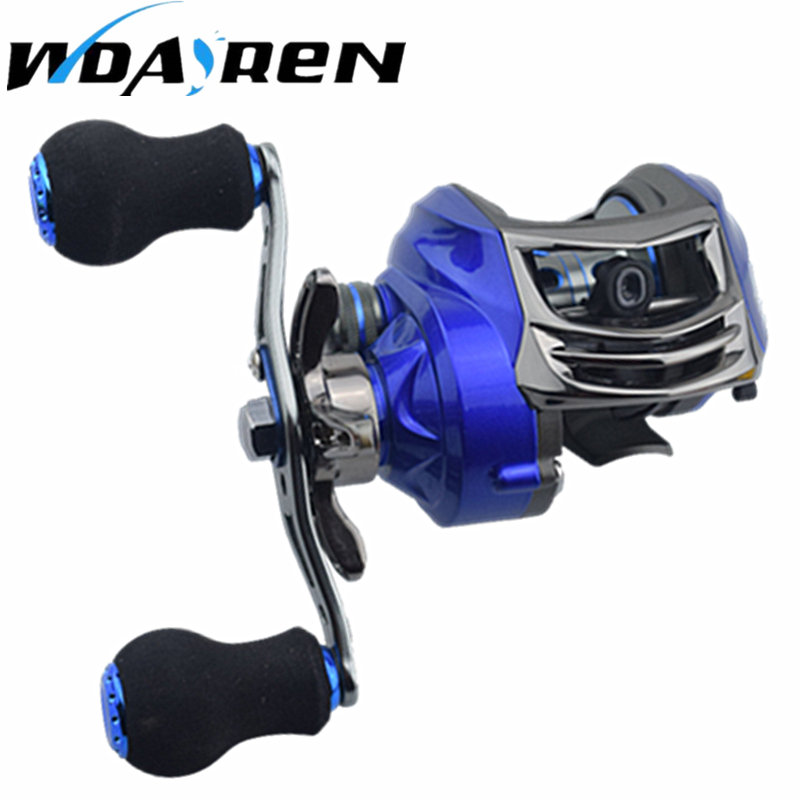 WDAIREN 13+1BB Fishing Reels GT 6.3:1 Bait Casting Reels Left Right Hand Fishing with One Way Clutch Baitcasting Reel FB-001