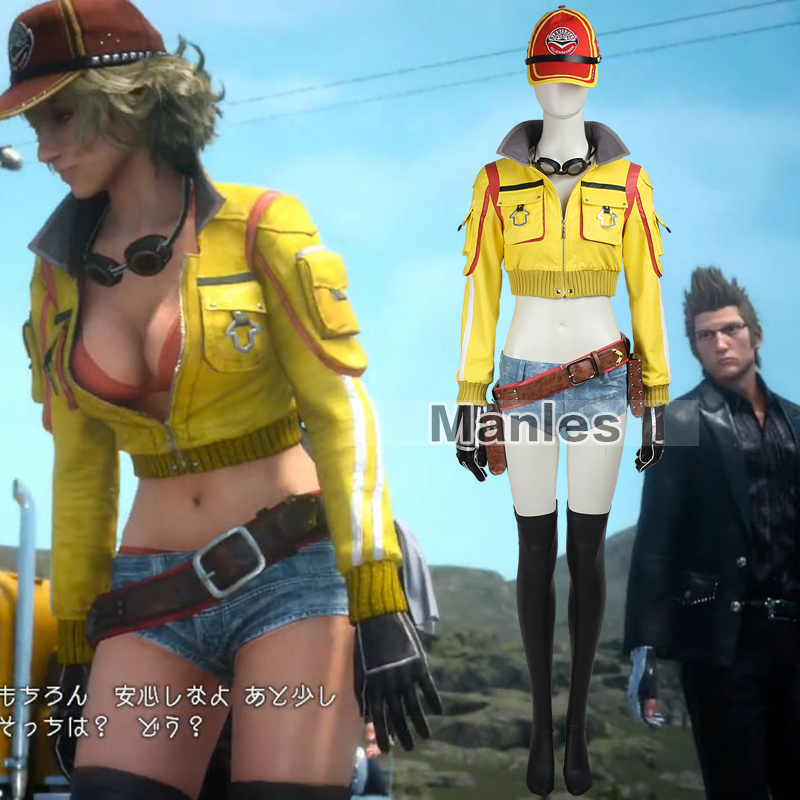 Cosplay Costume Female Yellow Jacket Halloween Sexy Costume Game Outfit Custom Made Adult Women