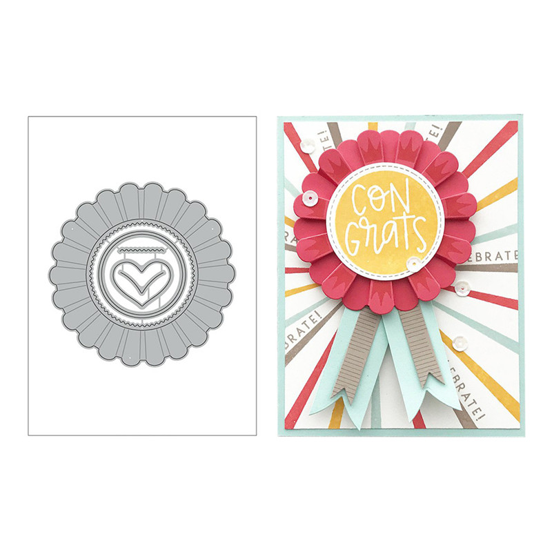 DiyArts New Hooray Ribbon Flower Metal Cutting Dies for Scrapbooking Card Album Making Craft Die Cut New 2019 Cutting Dies in Cutting Dies from Home Garden