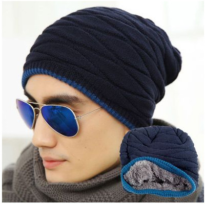 2015 Unisex Spring Fashion Beanies Knit Beani Hat Winter Hat For Man And Women Solid Color Elastic Hip-Hop Cap Gorro Two Styles fashion winter hat solid color woolen flat top cap unisex autumn and winter cap w005