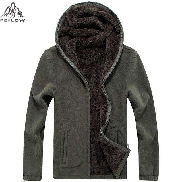 ee6756db886 Peilow зимние военные флисовая куртка теплая Для мужчин Тактический  термостойкая