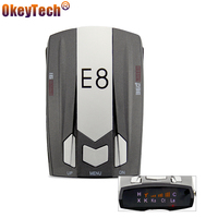 OkeyTech E8 Anti Speed Auto Car Laser Police 360 Degree Radar Detector Electronic Dog For Russia