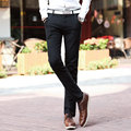 Men's Casual Pants 2016 New Solid Color Linen Casual Trousers Stylish and Comfortable Large Size Straight Trousers 01Y25