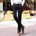 Pantalones Ocasionales de los hombres 2016 Nuevo Color Sólido de Lino Pantalones Casuales Con Estilo y Cómodo de Gran Tamaño Pantalones Rectos 01Y25