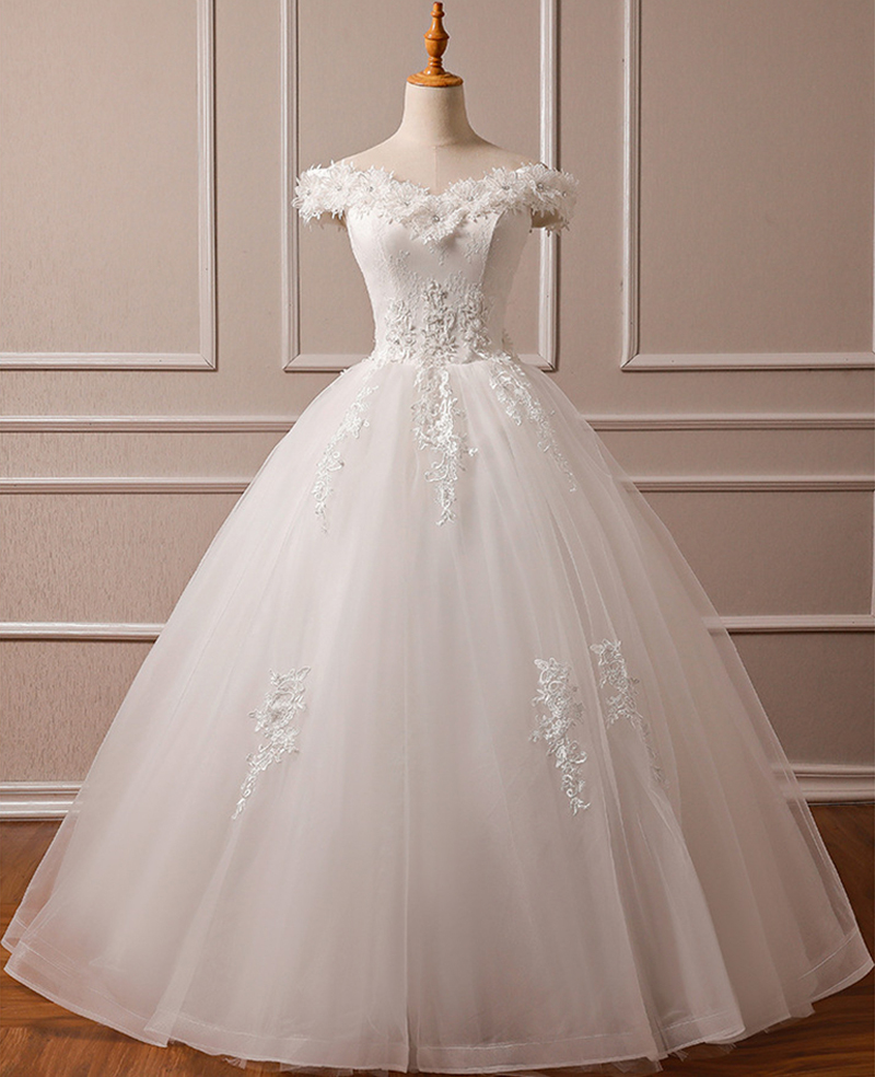 New Bridal Wedding Gown Centre: Real Photo New Wedding Dresses 2019 With Appliques Ivory