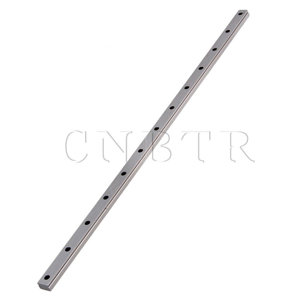 CNBTR 50cm Length MGN15 Bearing Steel Linear Sliding Guide Slide Rails Silver cnbtr 30cm length mgn7 bearing steel linear sliding guide slide rails silver