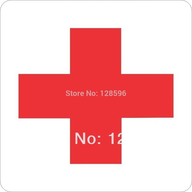 Funny Sticker Funny Sticker 10cm X 10cm Red Medical Cross Decal