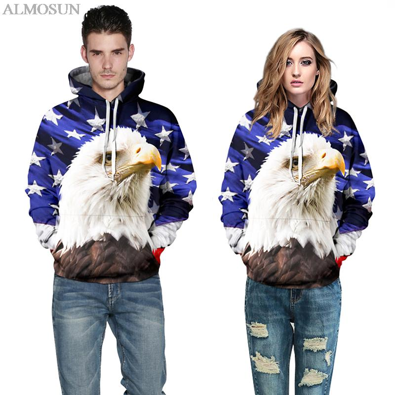 ALMOSUN Harajuku Novelty American USA Flag Eagle Hoodies Sweatshirt 3D All  Print Outfit Sweatshirts Hooded Men - Online Get Cheap Women American Flag Outfit -Aliexpress.com