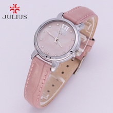 New Shell Women's Watch Japan Quartz Hours Simple Classic Fine Fashion Dress Bracelet Leather Girl Christmas Gift Julius Box 945