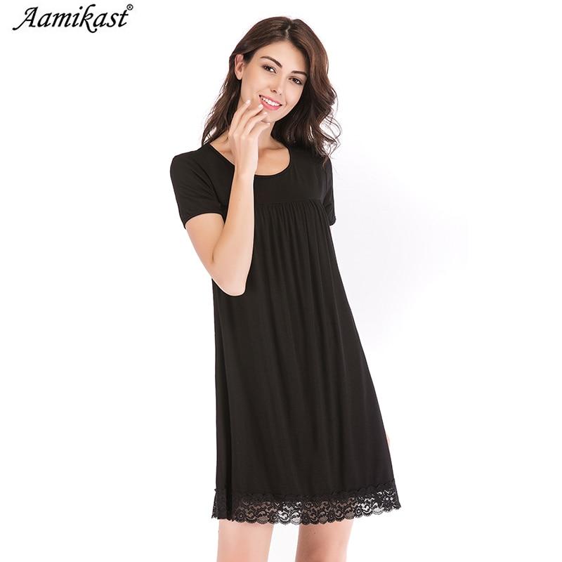 Preiswert Kaufen Aamikast Nachthemden Nachthemd Nachtwäsche Modal Kleider Nacht Kleid Nachtwäsche Nachthemd Weibliche Nachthemd Lose
