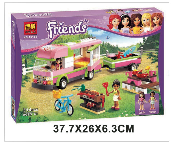 New original Friends BELA 10168 RV Plastic Building Blocks 314pcs set Girls Adventure Camper Bricks Toys