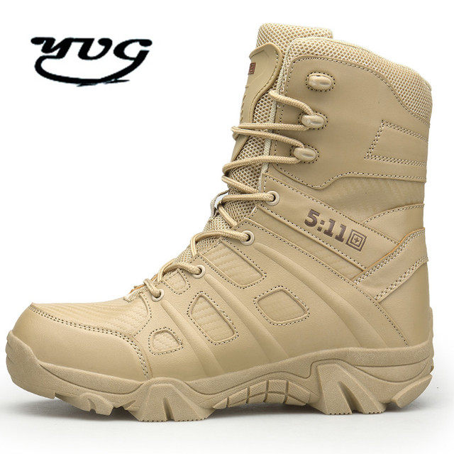 b4c186d15 2018 Sale Outdoor Hiking Shoes Men s Desert High-top Military Tactical Boots  Men Climbing Army