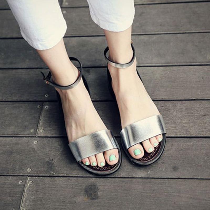 Sandalias Suave Flips silvery gold Flops Cuero Mujer 2017 Gladiadores Las Playa De Mujeres Zapatos white Vestido Zapatillas Xc40 Planos Black Bohemia Fndxfq