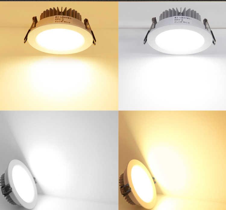 3 واط 5 واط 7 واط 12 واط عكس الضوء مصباح LED للإضاءة السفلية سقف بقعة ضوء 110 فولت 220 فولت أضواء راحة تركيبة إضاءة داخلية مع سائق LED