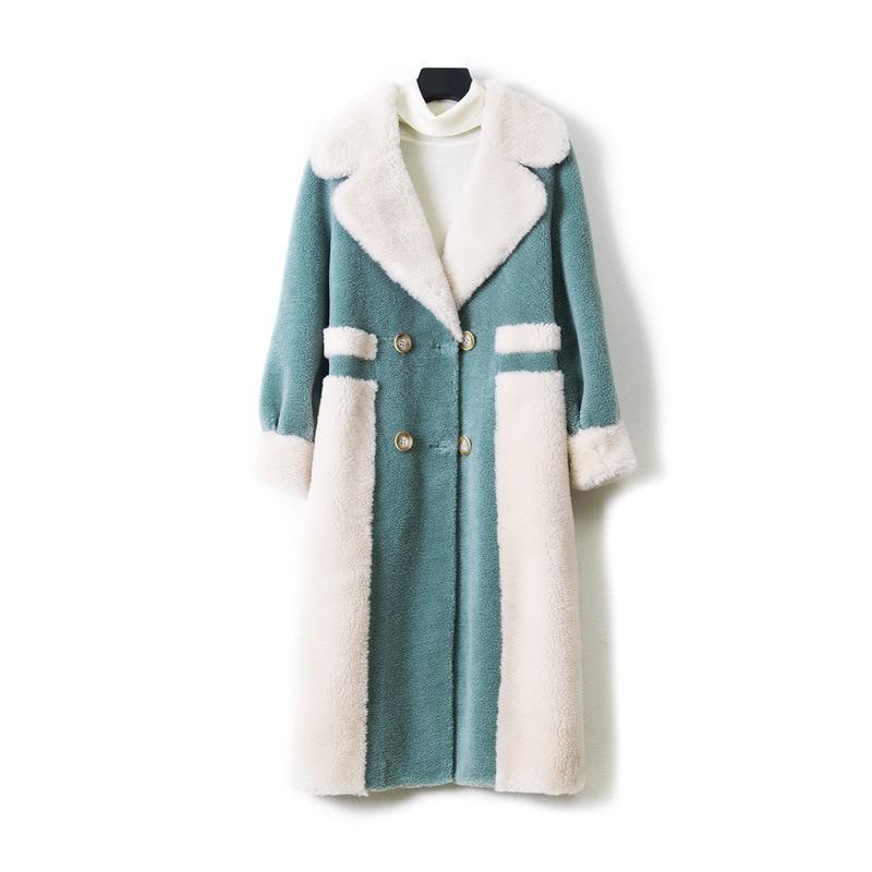 Femmes Agneaux Manteau En Style Laine Hiver Col Vêtement Moutons Tonte Recommandation Automne Nouveau Long Femme Pour Des Fine qBvx1tq