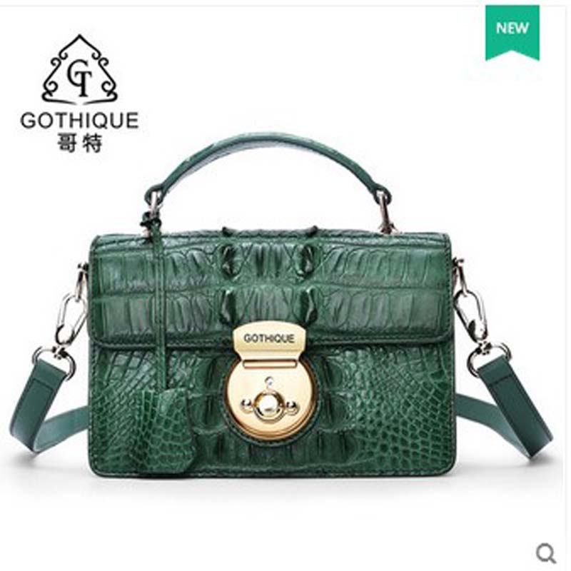 2018 gete  new hot free shipping new real crocodile leather women handbag thailand single shoulder bag women bag female bag yuanyu 2018 new hot free shipping crocodile women handbag wrist bag big vintga high end single shoulder bags luxury women bag