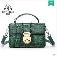 gete 2017 new hot free shipping new real crocodile leather women handbag thailand single shoulder bag women bag female bag
