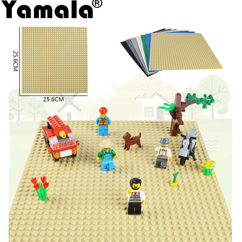 [Yamala] 32*32 dot Small Particles Building Blocks Base Plate Baseplate compatible with legoe Kids Bricks Baseplate new big size 40 40cm blocks diy baseplate 50 50 dots diy small bricks building blocks base plate green grey blue