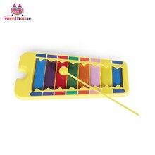 Colorful Bayi Gambang Musik Mainan Pendidikan Alat Musik untuk Anak-anak 8-Note Xilofon Perlengkapan Belajar TK
