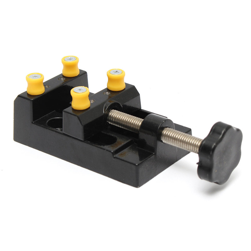 1Pcs 125x62x36mm Black Jaw Bench Clamp Mini Drill Press Vice Micro Clip Flat Vise DIY Hand Tools Carving Bench Clamp Drill diy carving tool kit micro pin vise hand drill chunck mini walnut vise clamp table bench vice 20pcs micro twist drill bit set