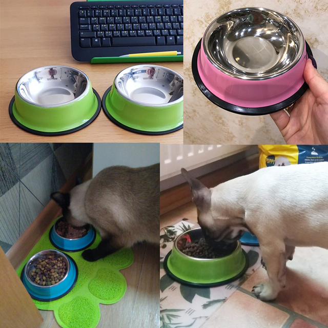 BIBSS Dog Bowl Travel Pet Dry Food Bowls for Cats Dogs Pink Dog Bowls Outdoor Drinking Water Fountain Pet Dog Dish Feeder Goods 1