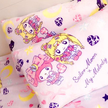 Candice guo! cute plush toy sailor moon Luna cat my melody soft sweet blanket pillowcas princes girl birthday Christmas gift 1pc