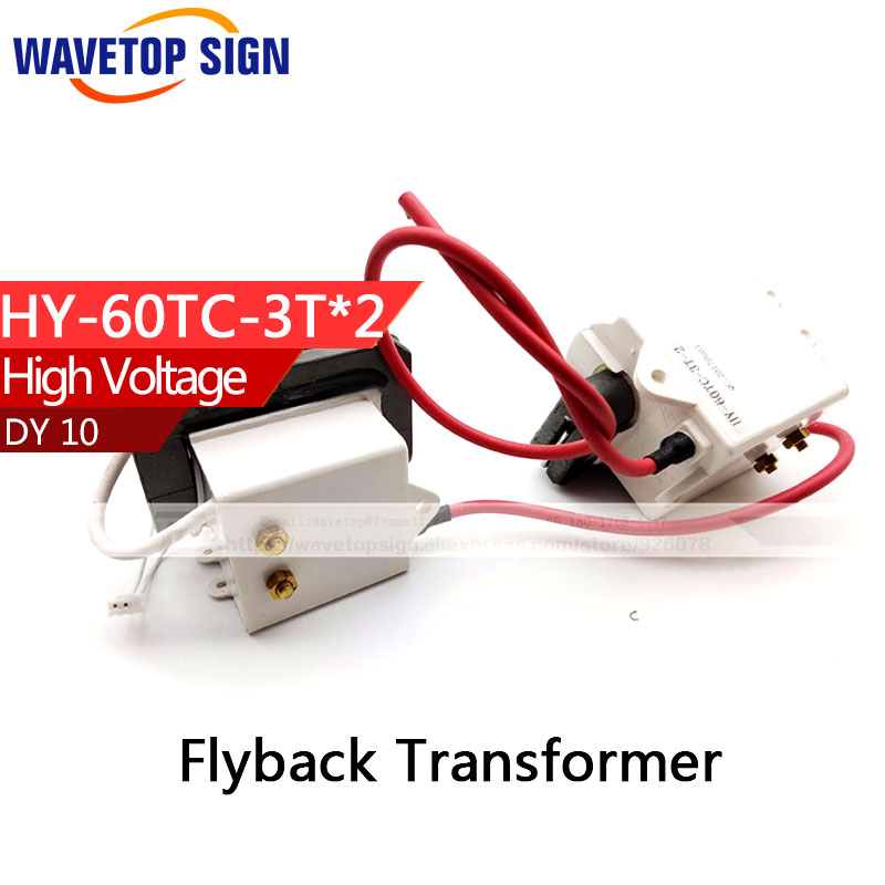 High Voltage Flyback Transformer HY-60TC-3T*2   use for   reci laser power box DY 10 use 1pair/pcs high voltage flyback transformer hy a 2 use for co2 laser power supply