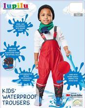 Al aire libre masculina niño niños pantalones de esquí chaqueta al aire libre a prueba de frío a prueba de viento impermeable de LA PU, además de terciopelo pantalones