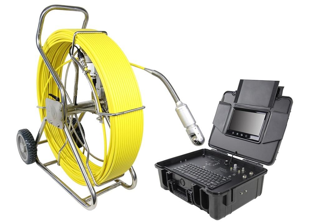 Поворотная канализация сливная труба видео Инспекционная камера система W/50 мм камера счетчик 9 дюймов сенсорный экран монитор 60 м