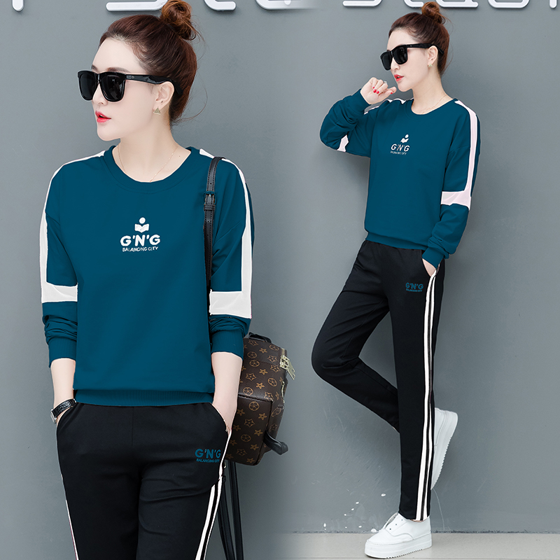 Winter Autumn 2 Piece Set Tracksuit for Women Outfit Sportsuits Co-ord Two Twin Style Pant and Top Plus Size Big Striped Clothes