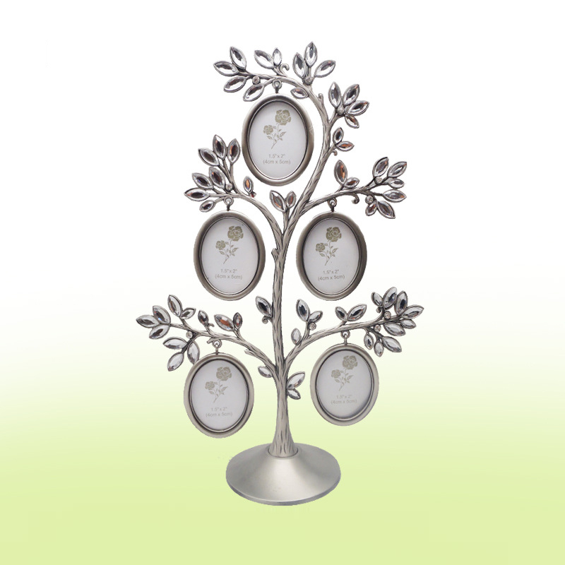 New fashion family crystal tree photo frame lovely diy baby picture frame best gift for women - Wholesale home decor merchandise model ...