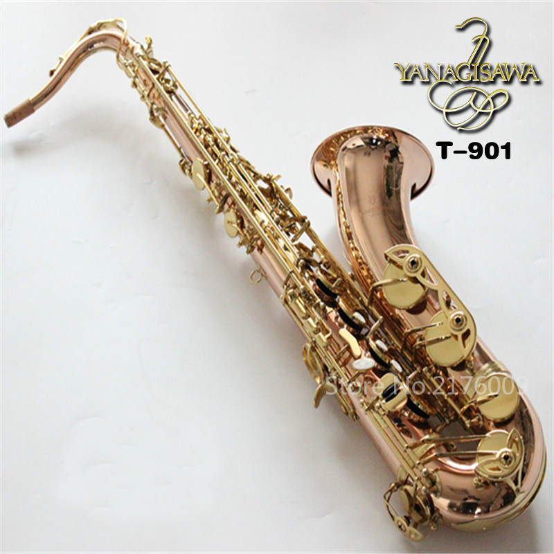 Japan YANAGISAWA T-901 B Flat Tenor Saxophone Bb High Quality Gold Plated Performance Instruments Sax With Mouthpiece, Case tenor saxophone free shipping selmer instrument saxophone wire drawing bronze copper 54 professional b mouthpiece sax saxophone