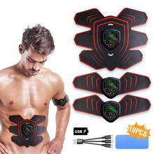 Ems Abs Muscle Stimulation Trainer Electro Stimulator with LCD Display for Men Women Gym Training Belt Toning Slimming Massage