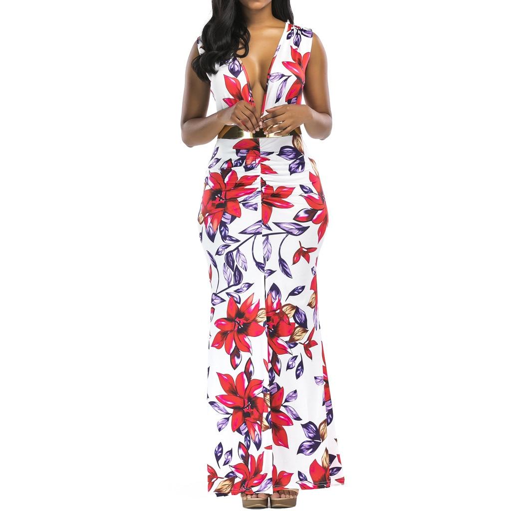FREE OSTRICH Dress Fashion Women Dress Maxi Party Evening Beach Sundress Summer Casual Boho Dress 2020 New Dress women summer