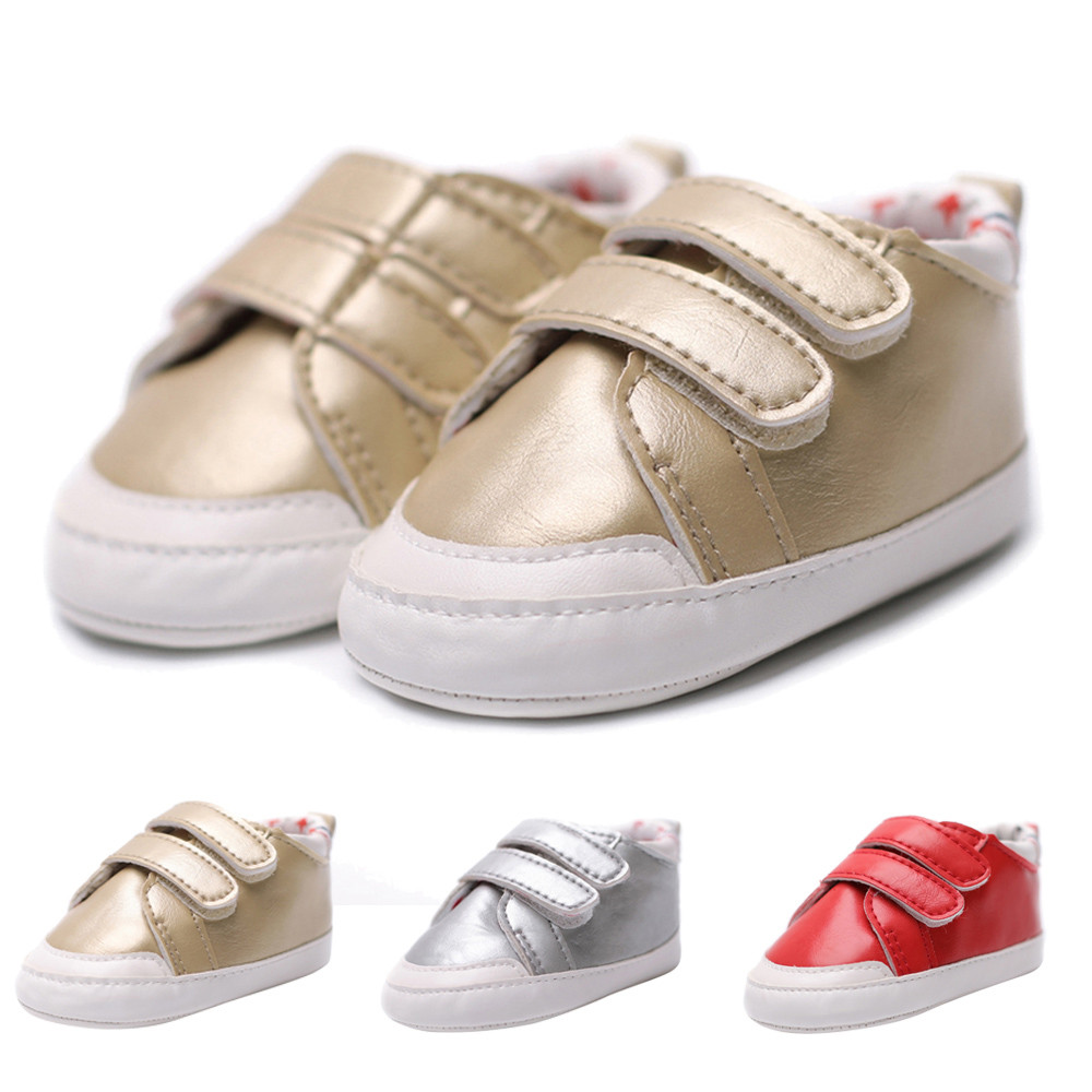 Toddler Infant Baby Shoes Girls first walkers Boys Crib Shoes Soft Sole Anti-slip Sneake ...
