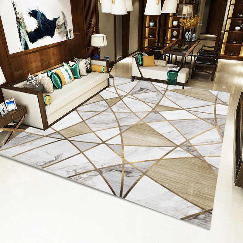 Ковры север для Гостиная Спальня геометрический Диванный кофейный столик ковры настольная прикроватная ковер для детской комнаты ковры 3D печатных дома коврик
