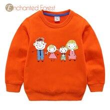 Children's Sweatshirts girl cartoon long-sleeved top children's pullover baby clothes girls cotton Sweatshirts kids sweatshirt