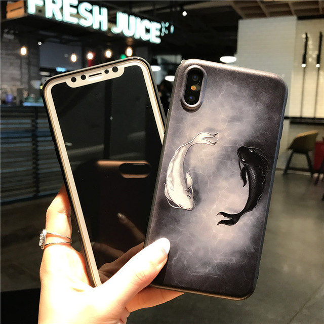 3D Relief Art Fish Cases For iPhone 6/6 Plus, 7/7 Plus, 8/8 plus, iPhone X