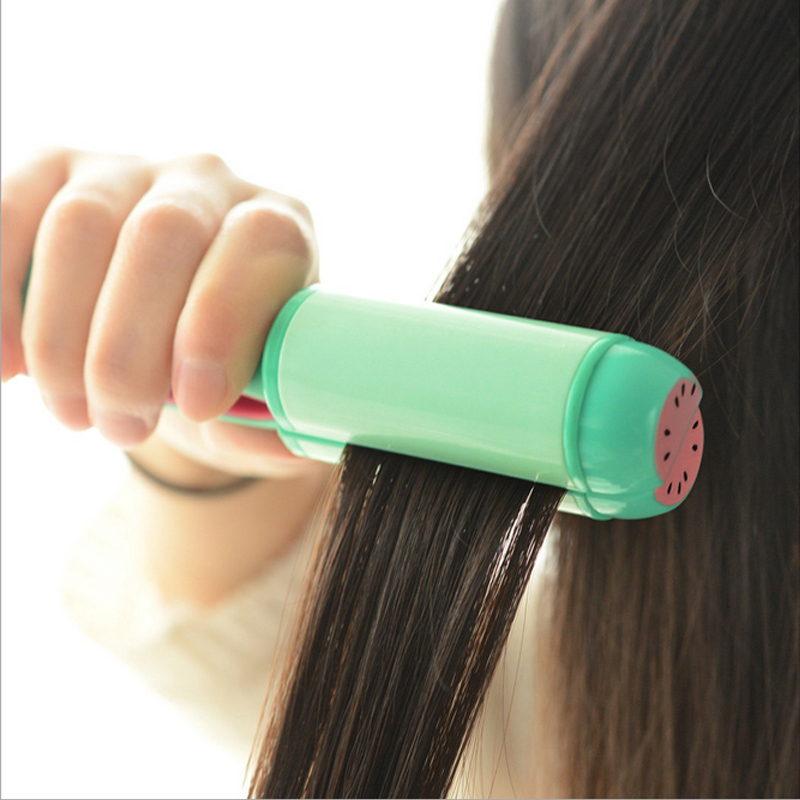 4 colors mini Electric Splint Hair Straightener & hair curler 2 in one with Flat Iron Straightening Irons Styling Tools