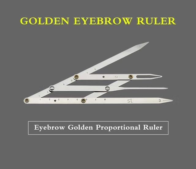 PermanetMakeup Ruler Measure Microblading ruler,eyebrow shaping ruler,ratio divider ruler Eyebrow Tattoo Design Calipers Stencil 5
