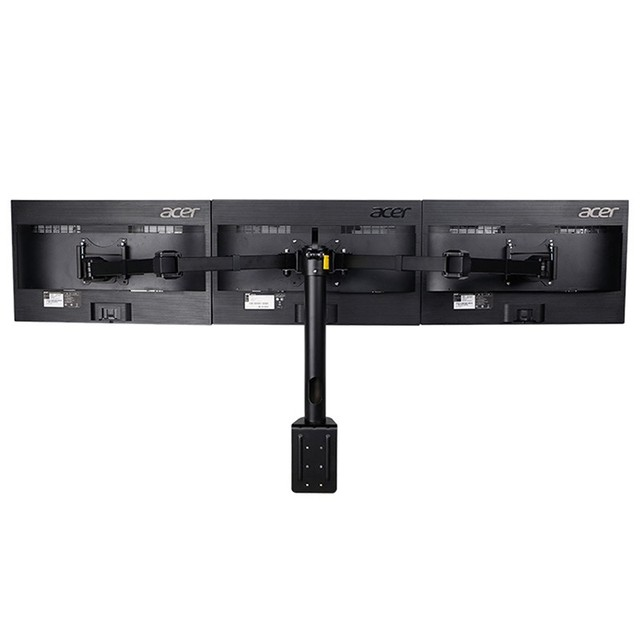 Desktop Clamping Full Motion 10-30 inch Triple Monitor Holder 360 Degree Three LED LCD Monitor Mount Arm Bracket 10kgs Per Arm